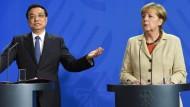 Deutschland und China schließen Abkommen in Milliardenhöhe