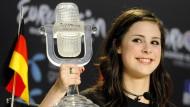 Strahlende Gewinnerin: 2010 gewann Lena den Eurovision Song Contest in Oslo für Deutschland.