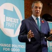 Keine Kompromisse: Nigel Farage, Brexiteer der ersten Stunde, will keinen Deal mit der EU und fordert Johnson zum Bündnis auf.