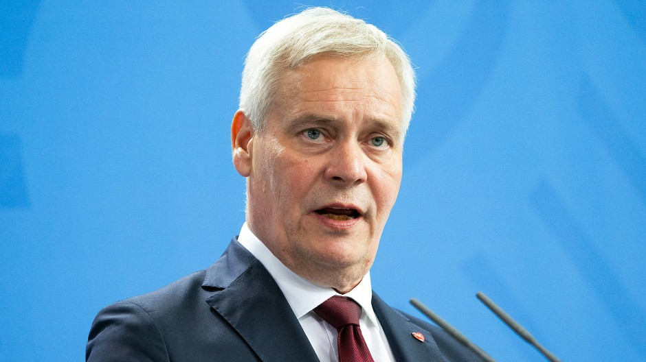 Der finnische Ministerpräsident Antti Rinne