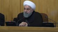 Der iranische Präsident Hassan Rohani bei einer Kabinettssitzung in Teheran
