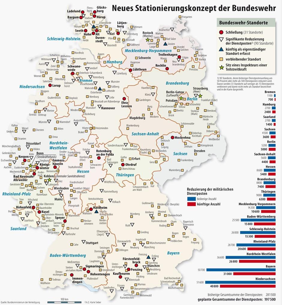 Us Kasernen In Deutschland Karte