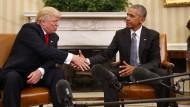 Oft trafen sich Barack Obama und Donald Trump nicht – trotzdem ist Amerikas Präsident wohl von seinem Vorgänger gewarnt worden.
