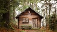 Diese Hütte soll einmal die letzte Station für die Besucher der Tierwelt werden.