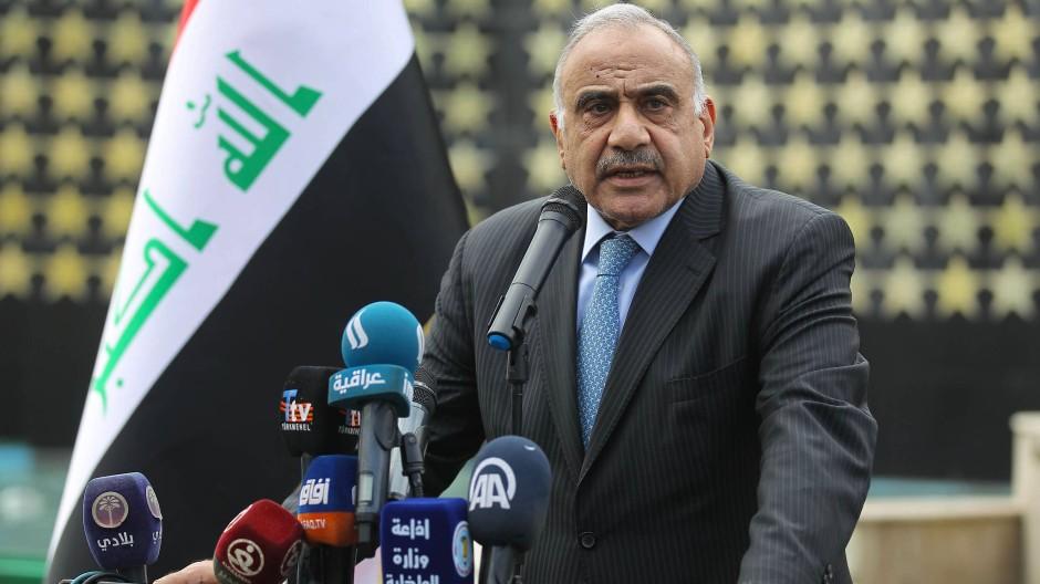 Iraks Ministerpräsident Adel Abdel Mahdi Ende Oktober in Bagdad