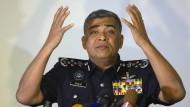 Malaysias Polizeichef Khalid Abu Bakar bei der Pressekonferenz