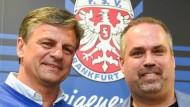Bitte recht freundlich! Falko Götz (links) und Clemens Krüger sehen sich als neues Erfolgsgespann.