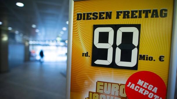 90-Millionen-Euro-Jackpot geht nach Nordrhein-Westfalen