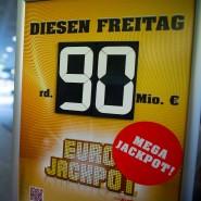 Werbung für den Eurojackpot: Rund 90 Millionen Euro konnten gewonnen werden und wurden gewonnen.