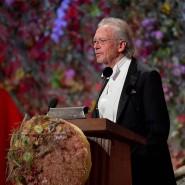 Peter Handke bei seiner Dankesrede für den diesjährigen Nobelpreis.