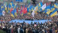 Für eine Annäherung an Europa: Demonstranten in Kiew