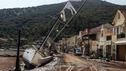 Drei Tote und starke Schäden in Griechenland