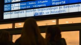 """Wegen """"Eberhard"""" fallen viele Züge aus"""