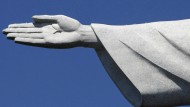 Konnte die brasilianische Talfahrt auch nicht aufhalten: Christus-Statue in Rio de Janeiro
