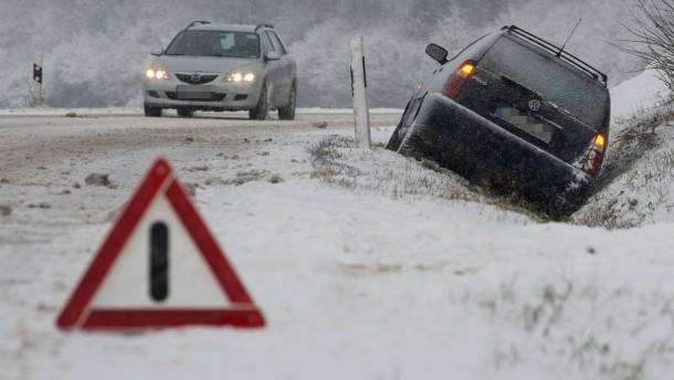 Schnee in Niederbayern