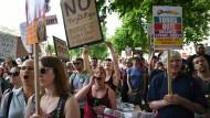 Protest gegen May und die Tories am Sonntag in London