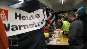 Warnstreiks der Metaller in Hessen und Rheinland-Pfalz gehen weiter