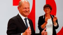SPD mit 25,7 Prozent Nummer Eins vor Union