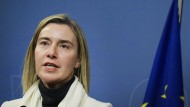 EU-Außenbeauftragte Federica Mogherini vergangene Woche in Stockholm