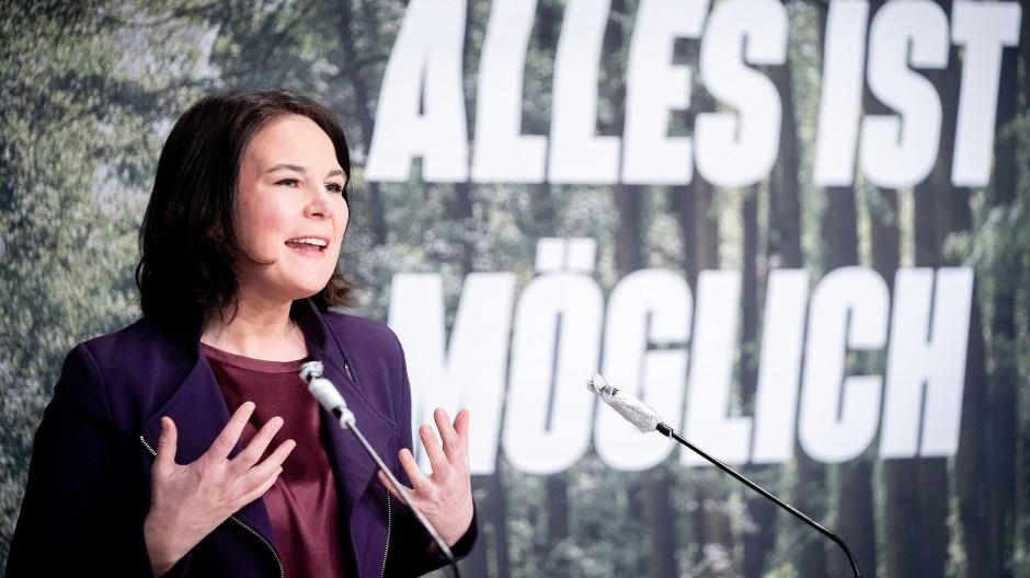 Alles ist möglich: Annalena Baerbock am Wochenende bei einer Grünen-Konferenz in Potsdam.