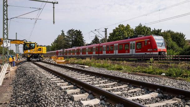 Eigene Trasse für die S-Bahn in Richtung Wetterau