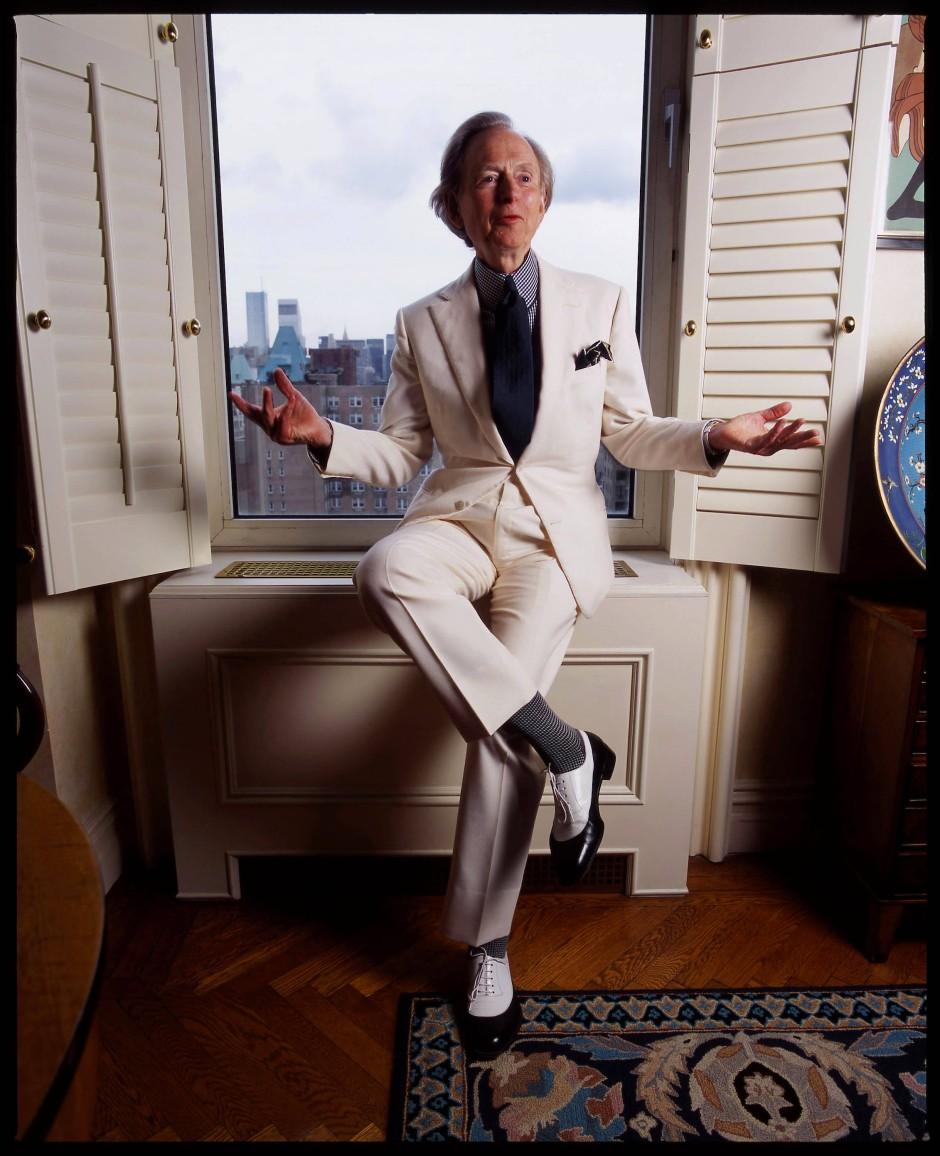Tom Wolfe in seinem Appartement an der Upper East Side in New York