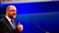 """""""Auf den Inhalt kommt es an, nicht auf die Form"""": Martin Schulz spricht auf dem SPD-Parteitag"""