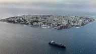 Trägt die Folgen des Klimawandels: Die Insel Malé – Hauptstadt der Malediven.