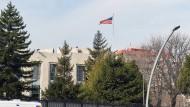 Die amerikanische Botschaft in Ankara in der Türkei.