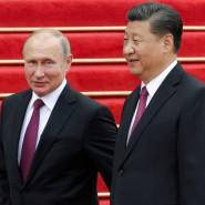 Der russische Präsident Wladimir Putin mit dem chinesischen Präsidenten Xi Jinping im Juni 2018 in Peking