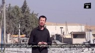 Bildschirmfoto aus jenem Video, in dem John Cantlie Propaganda für die Islamisten machen muss