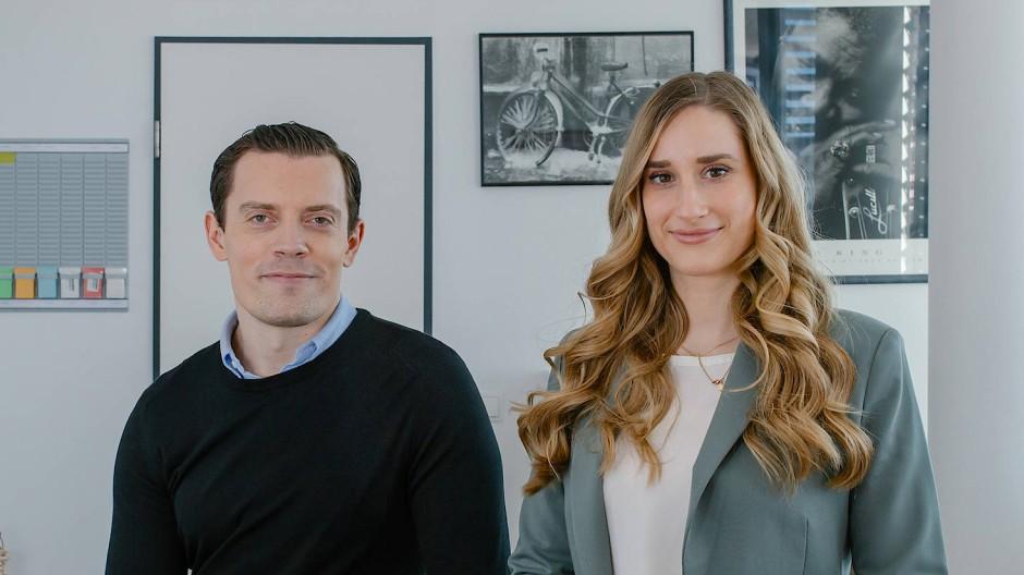 Gründer-Duo: Julian Wichmann und Anna-Sophia Kouparanis von Algea Care