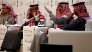 Der saudische Finanzminister Muhammad Jadaan informiert am Dienstag Nachmittag über den Staatshaushalt für das Jahr 2018.