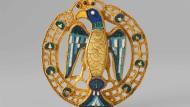 Auslöser für einen Mythos: Die Mainzer Adlerfibel, entdeckt 1880.