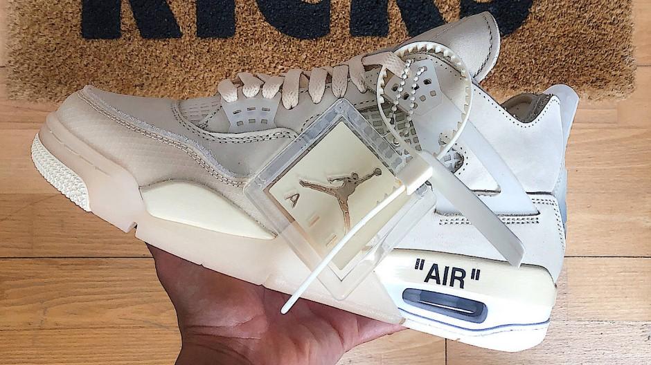 Nicht übertrieben, sondern clean: Der Nike Air Jordan 4 Sail x Off White