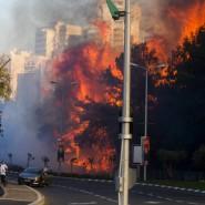 Trockenheit und Wind fachen die Brände an - hier in Haifa