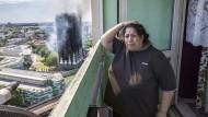 Schockierte Anwohnerin: Augenzeugen berichteten in der Nacht auf Twitter von Schreien, Menschen seien aus dem brennenden Gebäude gesprungen.