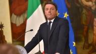 Renzi kündigt Rücktritt an