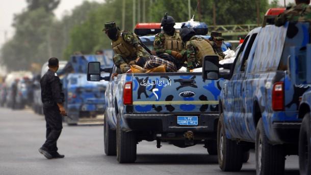 Irak ruft Amerika zur Hilfe