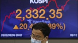 Wenig Kursschwankungen in Asien