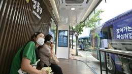 High-Tech-Bushaltestellen im Kampf gegen Corona