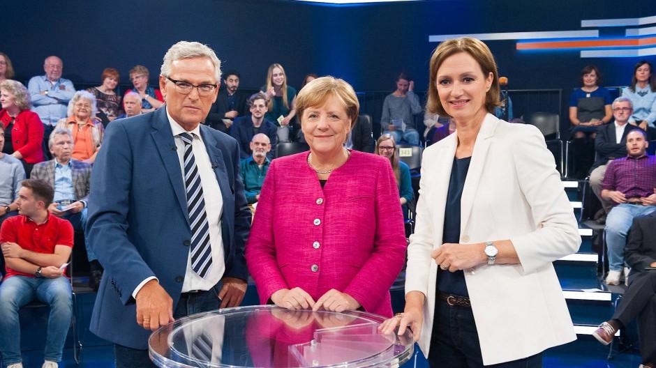 Angela Merkel: Schlagabtausch mit Bürgern bei Klartext