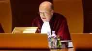 An seinem Arbeitsplatz: Koen Lenaerts, der Präsident des Europäischen Gerichtshofs