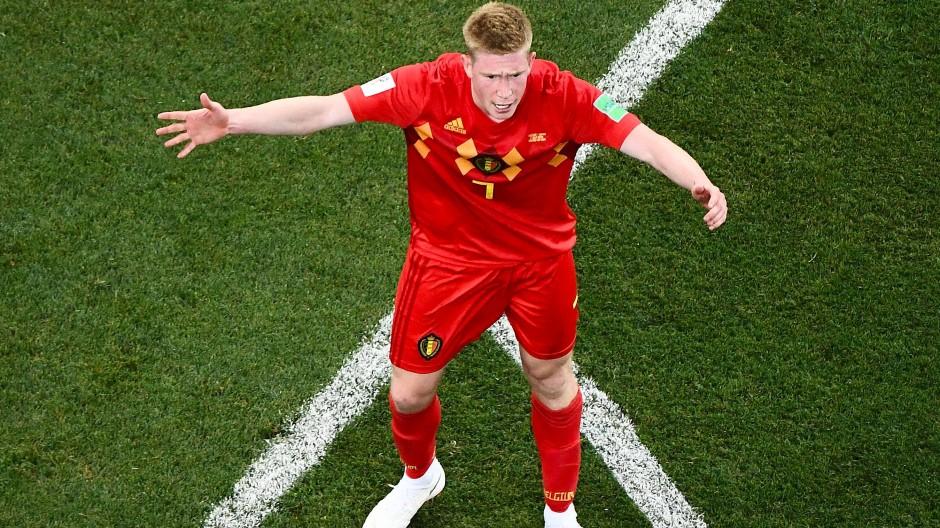 Wegen seiner defensiven Position im belgischen Spiel, bleiben Kevin de Bruynes überragende Passqualitäten oftmals ungenutzt.