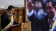 Venezuela drangsaliert einen kleinen Nachbarn