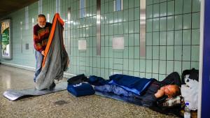 Obdachlose beschäftigen Politik