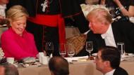 Ironie-Duell zwischen Clinton und Trump