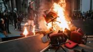 Ausschreitungen bei Generalstreik
