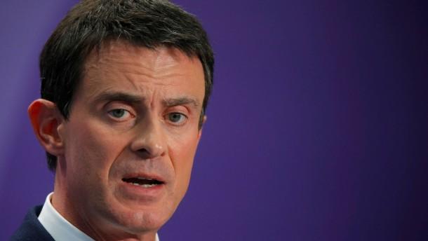 Ministerpräsident Valls verkündet Präsidentschaftskandidatur