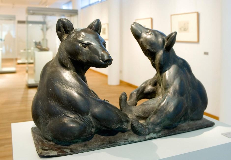 Junge Bären (1903/04), Skulptur von August Gaul